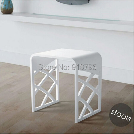 Solid Surface Stone Small Bathroom Step Stool Bench Chair Steam Shower 16 X 12
