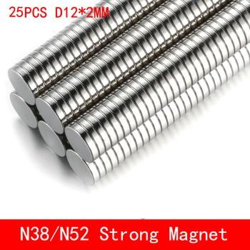 25PCS neodym 12x2mm N38 N52 Mini Kleine Disc Runde Super Starke magneten 12x2mm leistungsstarke Rare Earth Neodym Magneten 12*2mm