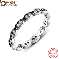 Authentic 100 925 Sterling Silver Leaves Stackable Ring Clear Cubic Zirconia Compatible With Original Jewelry PA7120