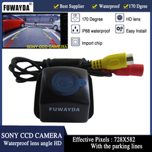 FUWAYDA AUTO SONY CCD REAR VIEW CAMERA Mirror Image FOR TOYOTA Prius 06-10/Camry 09-10/Aurion 06-11 Con La Linea Guida