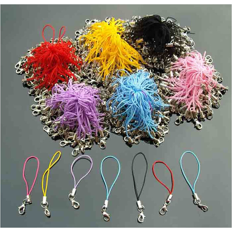 mix color Lanyard Lariat Strap Cords Lobster Clasp claws Hang Rope keychain Mobile art Dangle Charm Finding Connector Fastene
