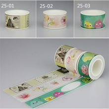 25mm X 10 m lindo Birdie Kawaii flores enmascarar Washi cinta decorativa cinta adhesiva decoración Decora Diy Scrapbooking Sticker etiqueta(China)