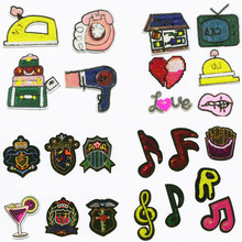 Music Life Sequined Patchwork Patch Embroidered Patches For Clothing Iron On Close Shoes Bags Badges