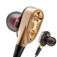 Double Unit Drive Earphone for Sony Xperia XZ2 / XZ2 Compact Stereo Metal HIFI I