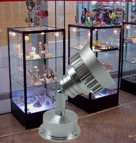 Led jewelry light counter spotlight 3w surface mount 2pcs 110v 220v lamp showcase display gundam wine