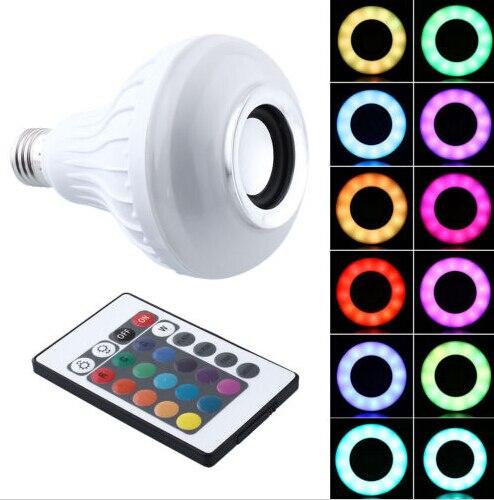 Offre spéciale E27 Bluetooth télécommande Mini LED haut-parleur RGB couleur ampoule lampe de musique