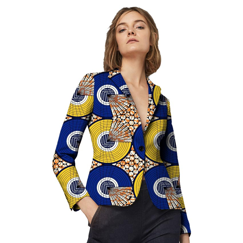 Fashion Custom font b Women b font Retro African font b Blazer b font Female Pattern