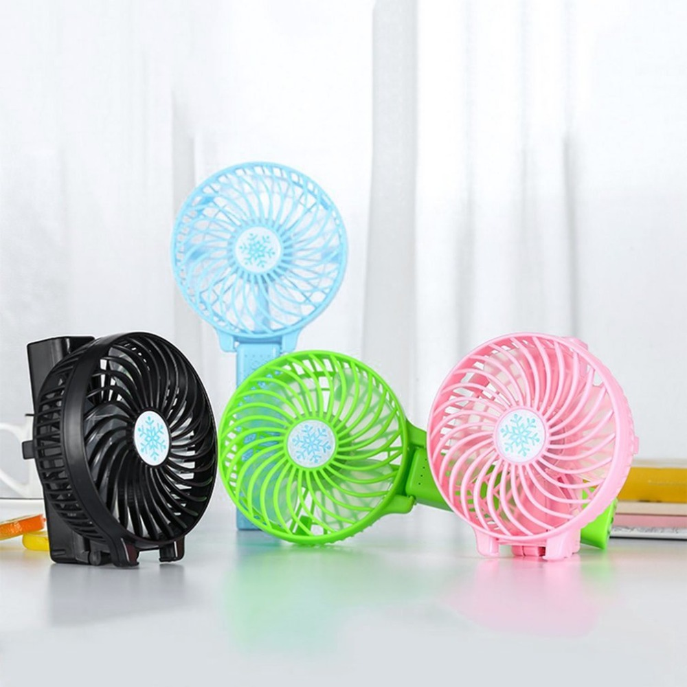 Portable Mini USB Hand Fan Cooling Fan Foldable Air Conditioning Fans Hand Held For Office Home Rechargeable Fan 4color USB fan mirror fan usb air cooling fan 1200mah battery rechargeable fan portable desk mini dc fan for home office outdoor