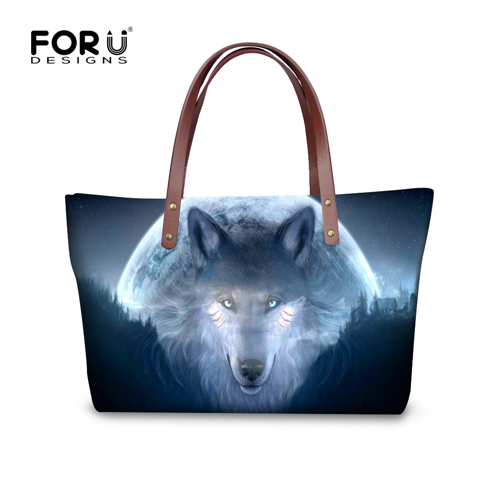 FORUDESGISNS 2017 Brand Woman Bag Clutch Women Shoulder Handbag 3D Wolf Animal Bolsa Feminina Womens Cross-body Messenger Bags недорго, оригинальная цена