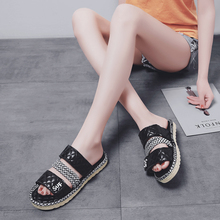 women flat sandal Hook and Loop yongge821