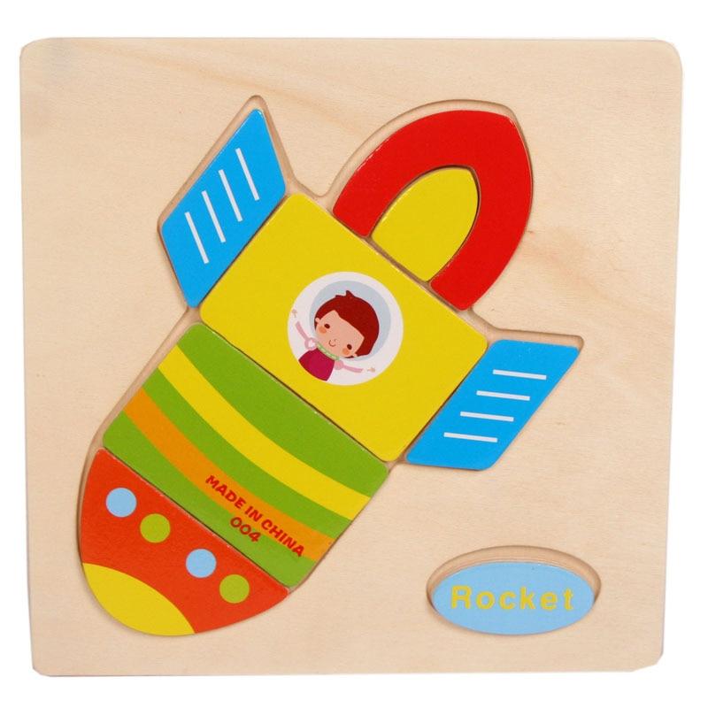 Новинка 2017 года деревянные ракеты головоломки, развивающие игрушки детям Обучение высокое качество детские головоломки Игрушечные лошадк...
