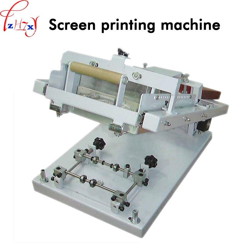 1 PC Manuale viso rotondo schermo della macchina di stampa TX-X1 cilindro schermo della macchina di stampa per le tazze, candele, penna ect di stampa dello schermo