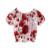 Pettigirl niñas sistemas de la ropa 2017 nueva ropa de verano chica con lindo rojo de la flor de impresión chaqueta y pantalones largos cs90124-521f