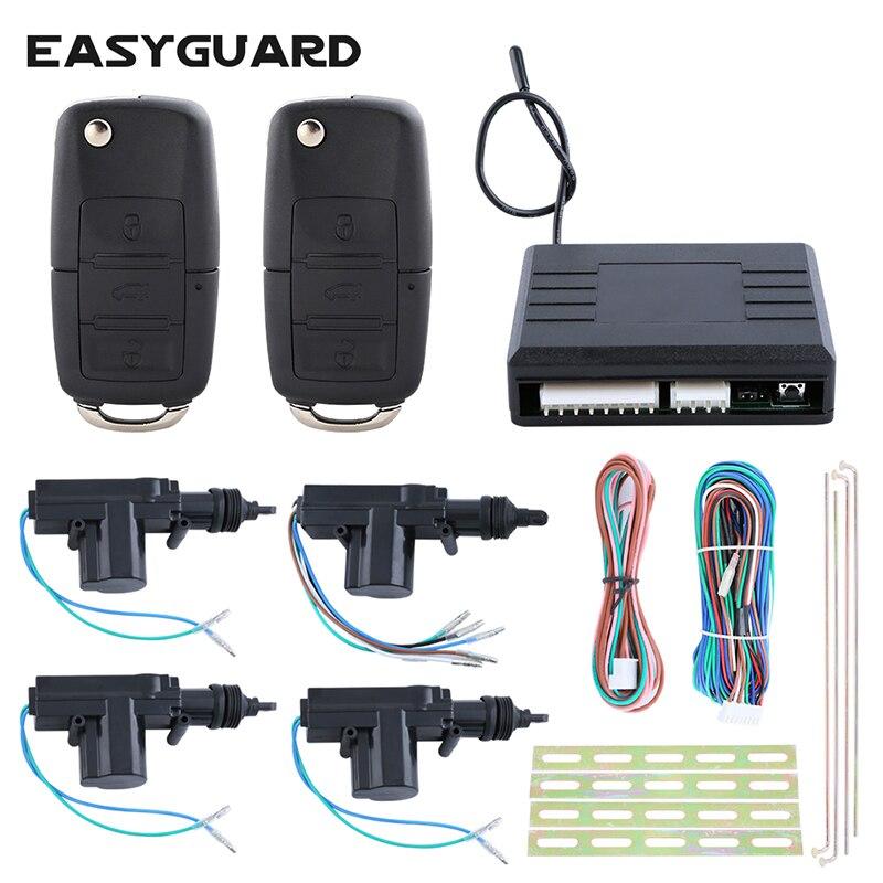 EASYGUARD télécommande universelle de qualité système de verrouillage central des portes 4 portes 1 commande 3 déverrouillage à distance DC12V