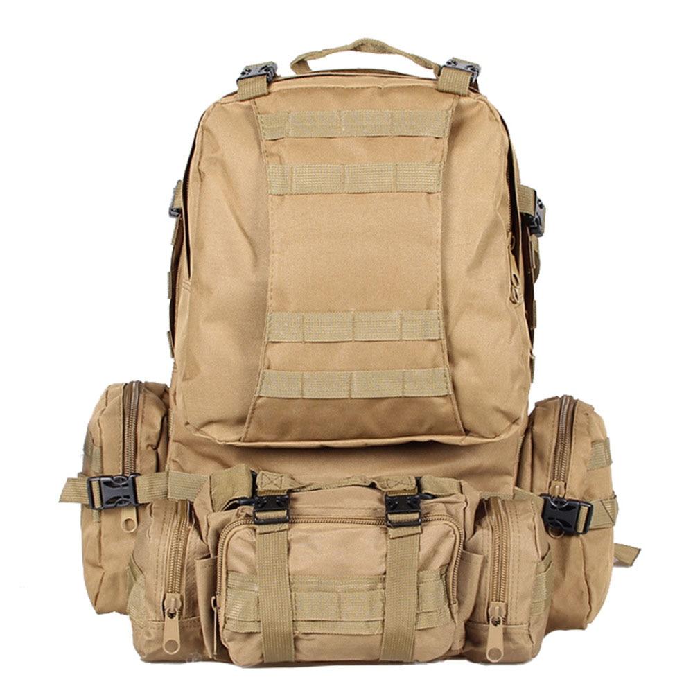 Prix pour 50L Grande Capacité Tactique Militaire En Plein Air À Dos sac à dos Trekking Randonnée Sac Boue couleur