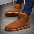 Botas de nieve Para Los Hombres Nuevos Zapatos de Invierno Botines Calientes los hombres Zapatos Planos Ocasionales Parejas Felpa Botas de Nieve carregadores dos homen
