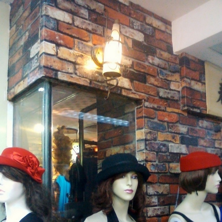 ФОТО Wallpaper papel parede Clothing store decoration simulation brick wall which