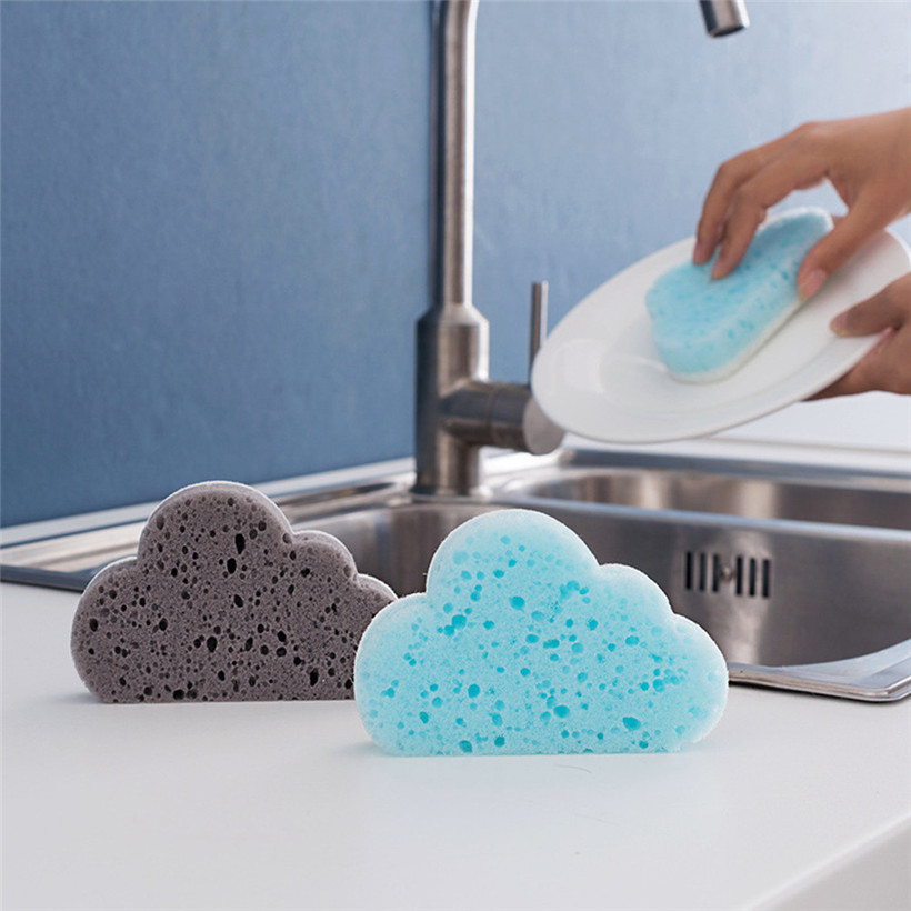 Practical 2018 NEW 1PCCloud Shape Sponge Brush Household Cleaning Tools Decontamination Magic Rubbing Drop Shipping