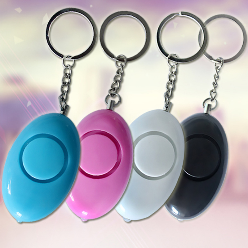 Self Defense Anti-Attack Keychain Alarm Keyring Emergency Security Alarm Random Color LCC77 random color ball flamingo round keychain