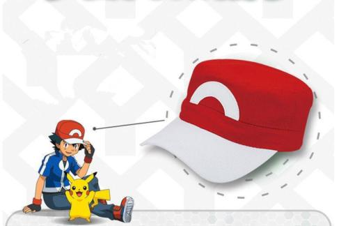 b381f780d Pokemon XY XYZ Go Satoshi Ash Ketchum Cosplay Prop S5 Red&White Baseball  Cap Hat Adjustable Hat Cap Big C For Adult Men Women-in Baseball Caps from  Apparel ...