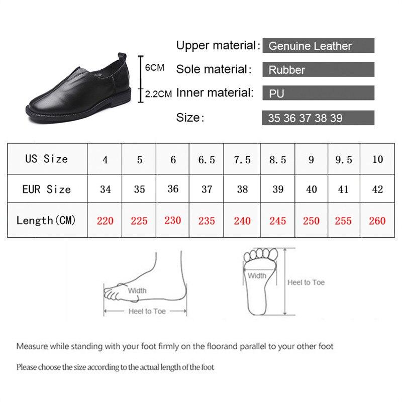 Véritable De Mode Slip noir En Talon Appartements Carrée Printemps Plate forme Nouvelle on Cuir Simple 2019 Sourire Cercle Beige Chaussures Dames Femmes 54ALjR3