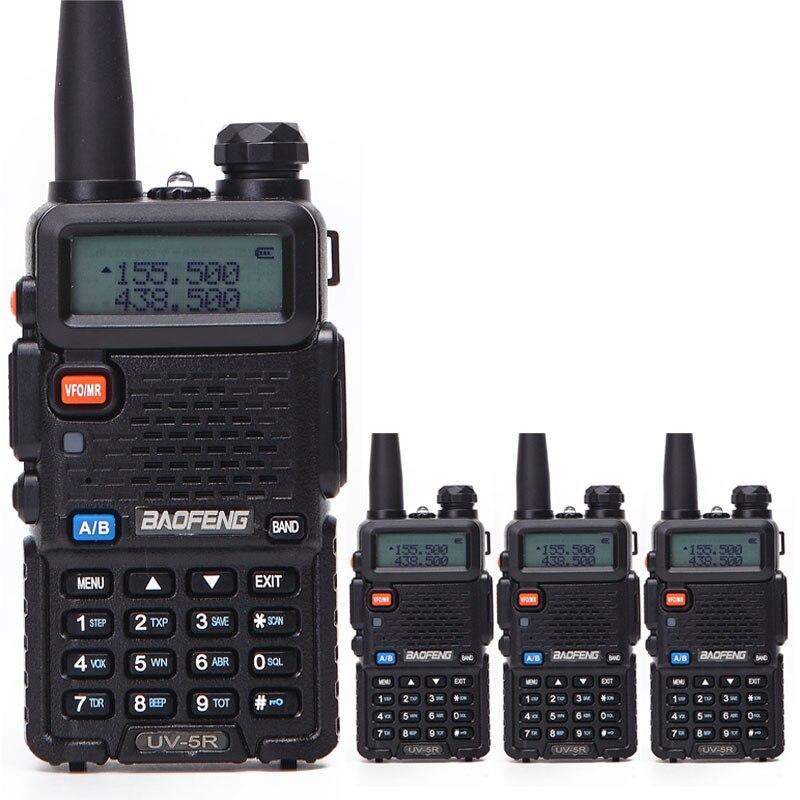 4 Pieces lot Baofeng UV 5R Interphone VHF 136 174 MHz UHF 400 520 MHz UV5R