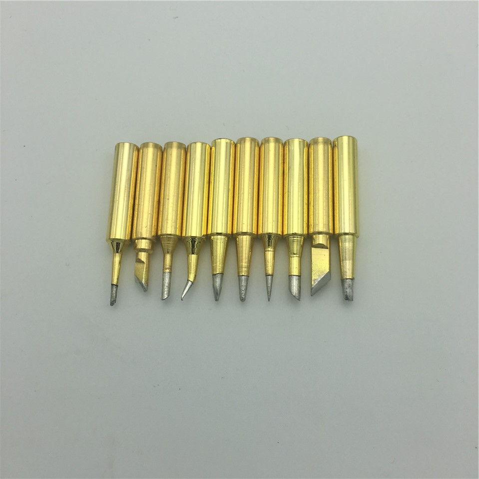 10pcs/lot Lead-free Solder Iron Tip 900M-T Hakko 936/951/937 Saike 852d+/852d++/909d ATTEN and other brand soldering station dhl free shipping hot sale 220v hakko fx 888 fx888 888 solder soldering iron station with 10 free tips 900m t