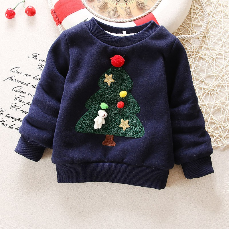 BibiCola-Winter-Children-Kids-Boys-Girls-Christmas-Sweater-baby-Plus-Velvet-Thick-Sweatshirts-Girls-Christmas-tree (3)