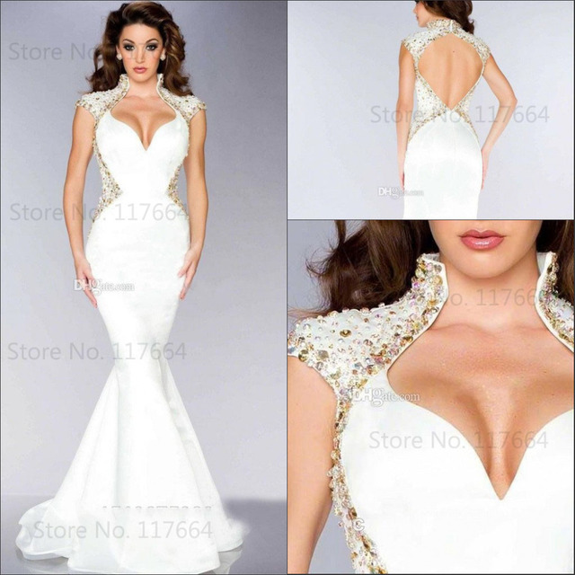 fc1495515fe1 2015 Best Selling Glamorous Mermaid Sexy Open Back Women Formal Evening  Gowns Evening Dresses NP1675