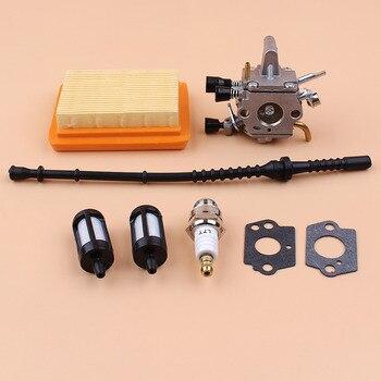 Carburetor Air Filter Fuel Line Gasket Kit Fit STIHL FS350 FS300 FS250 FS120 FS200 R FS020 FS202 Trimmer Brushcutter Parts 5pcs petrol snap in primer bulb fuel for chainsaws blowers trimmer carburetor