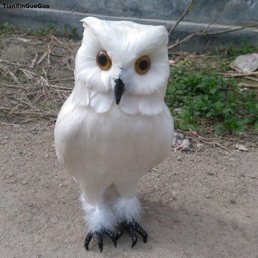 Besar 28 Cm Simulasi Model Polyethylene Feathers Putih Owl Burung Owl Kerajinan Dekorasi Taman S1134 White Owl Owl Birddecorative Decorative Aliexpress