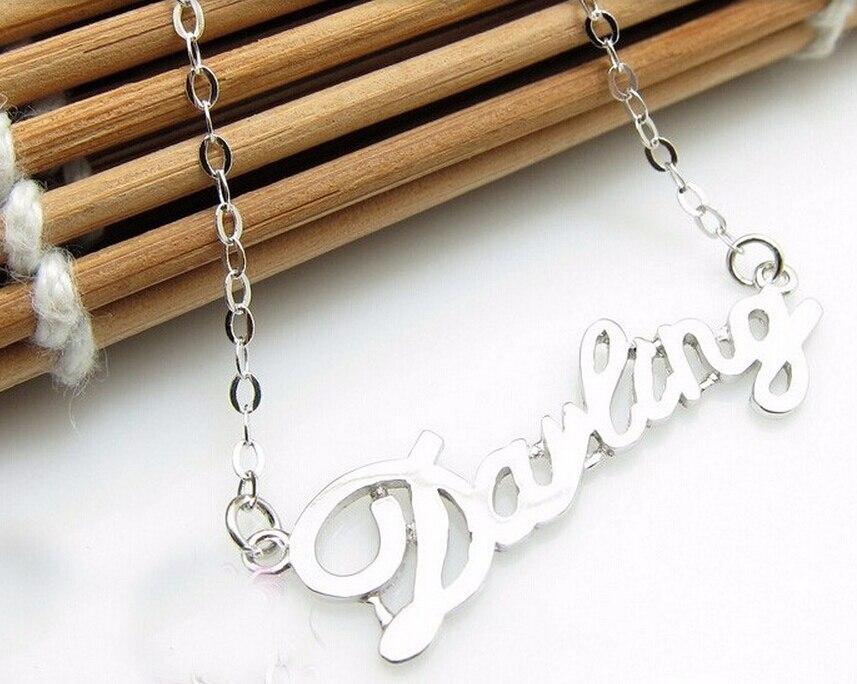 Offre spéciale mode italie conception Pure 925 en argent Sterling lettre collier chaîne