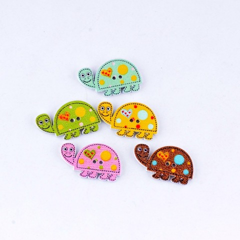Low Price Free Shipping Retail 10Pcs Random Mixed 2 Holes Cartoon Tortoise Animal Shape Wood Sewing Buttons Scrapbooking 16x28mm — stackexchange