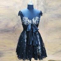 Rse122 дамы Кепки рукавом коктейльное платье