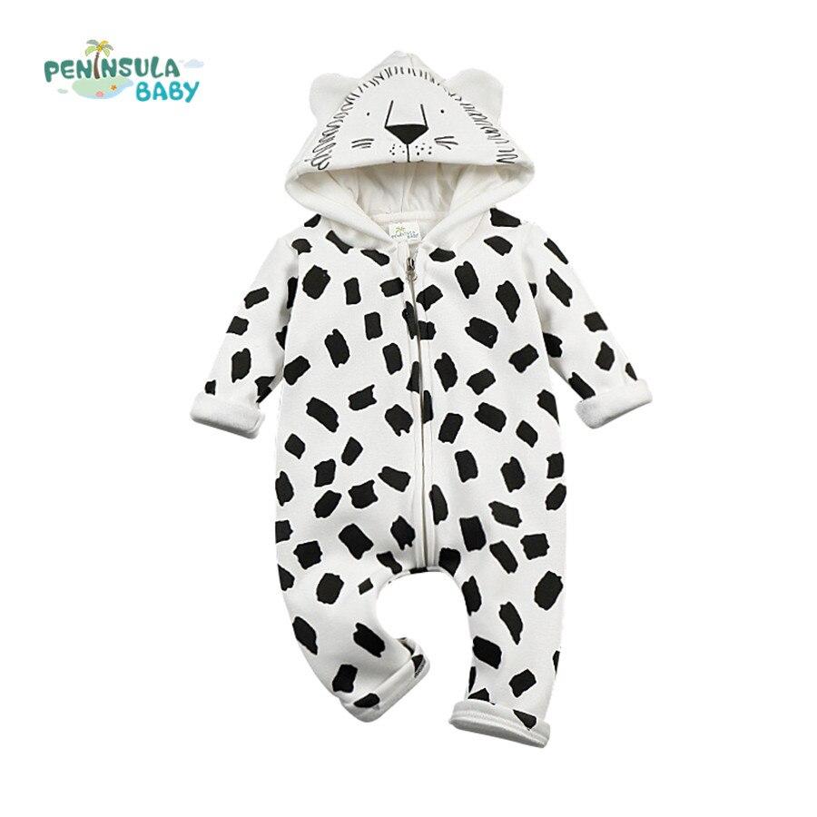 394f72f08 New infant baby kid cartoon long sleeve winter rompers boys girls ...