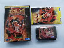 Md 게임: bare knuckle 3 (일본 버전!! 상자 + 수동 + 카트리지!!)