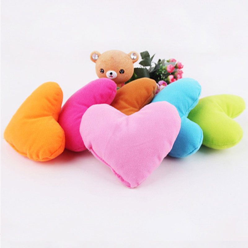 3pcs Mini Heart Plush Pillows Toy Soft Best Hand Toy Playing Nursery Sleep Hand Rests Birthday Gift For Children Dropshipping A