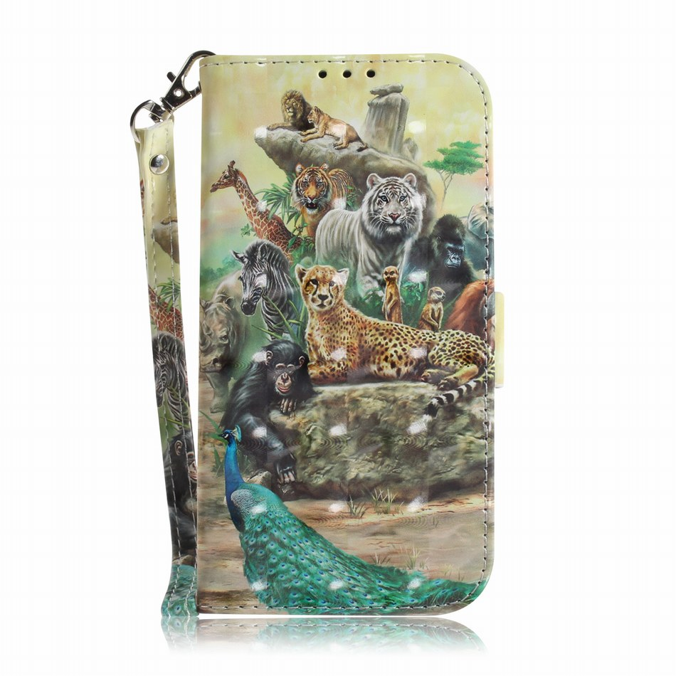 3d Embossing Wild Animal Book Case For Capa Lg Stylo 4 V40 G7 G8 Thinq Q8 2018 Flip Fundas Stand Cover Cat Dog Panda Coque Dp26z Durable In Use