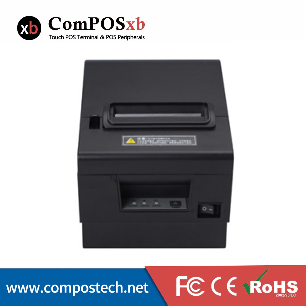 ComPOS 80MM Thermal Printer With USB+RS232 port For POS Cash Register 15 inch android all in one pos system dual screen touch cash register and 80mm thermal printer and 410mm pos cash drawer