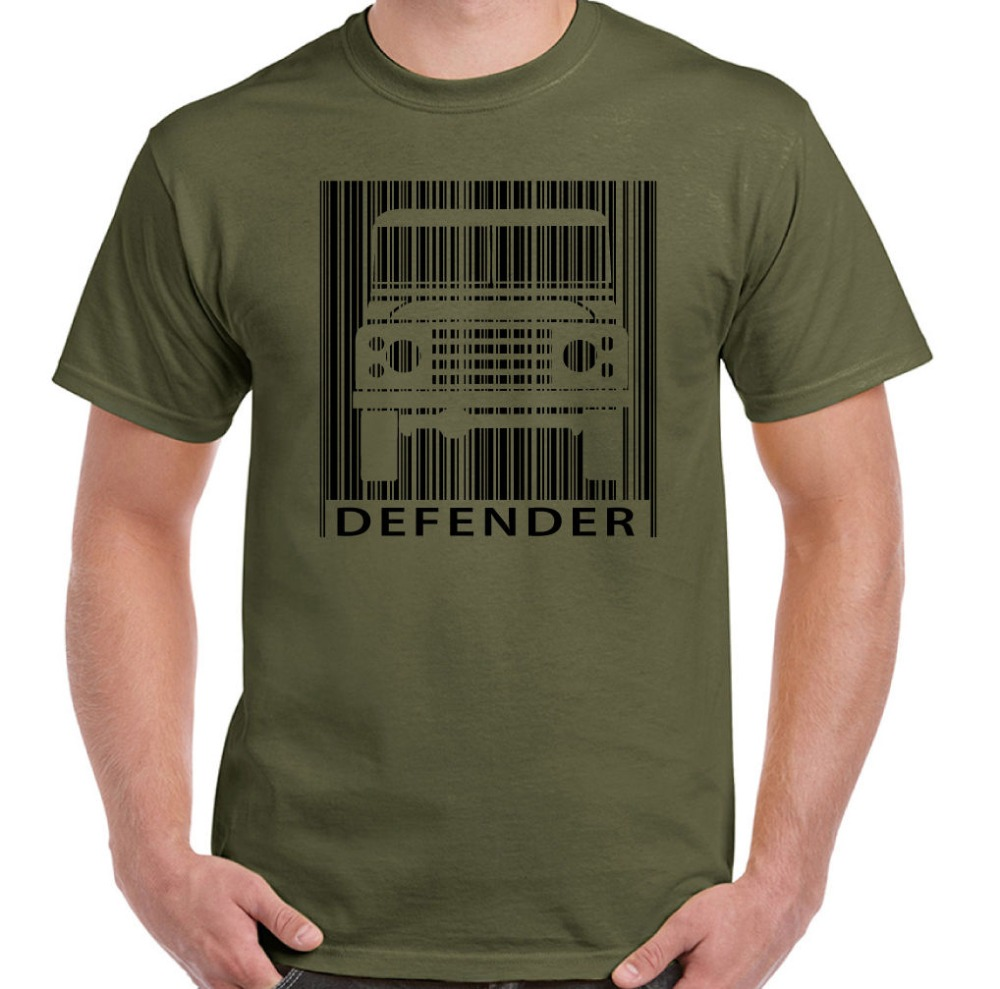 2018 Summer Tee Shirt DEFENDER Code Barres hommes Droles ROVER T-shirt inspire 4x4 90 110 127 O-Neck T-shirt