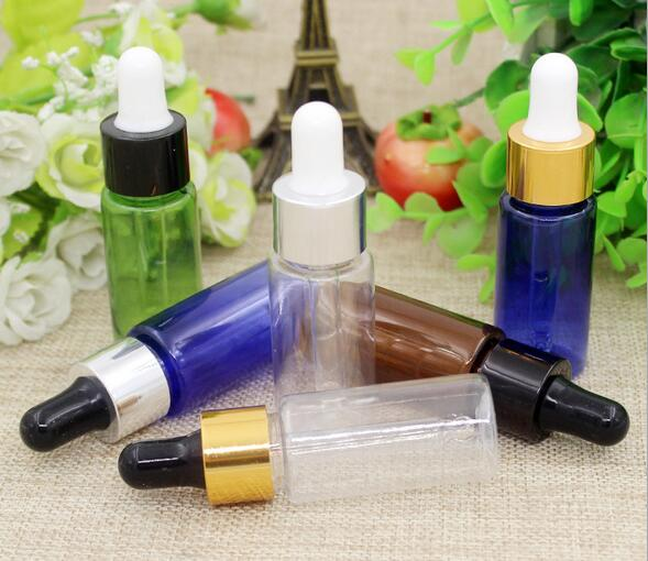 100Pcs LOT 15ml 20ml 50ml Empty Dropper Bottle Portable Aromatherapy Essential Oil Bottle with plastic Eye