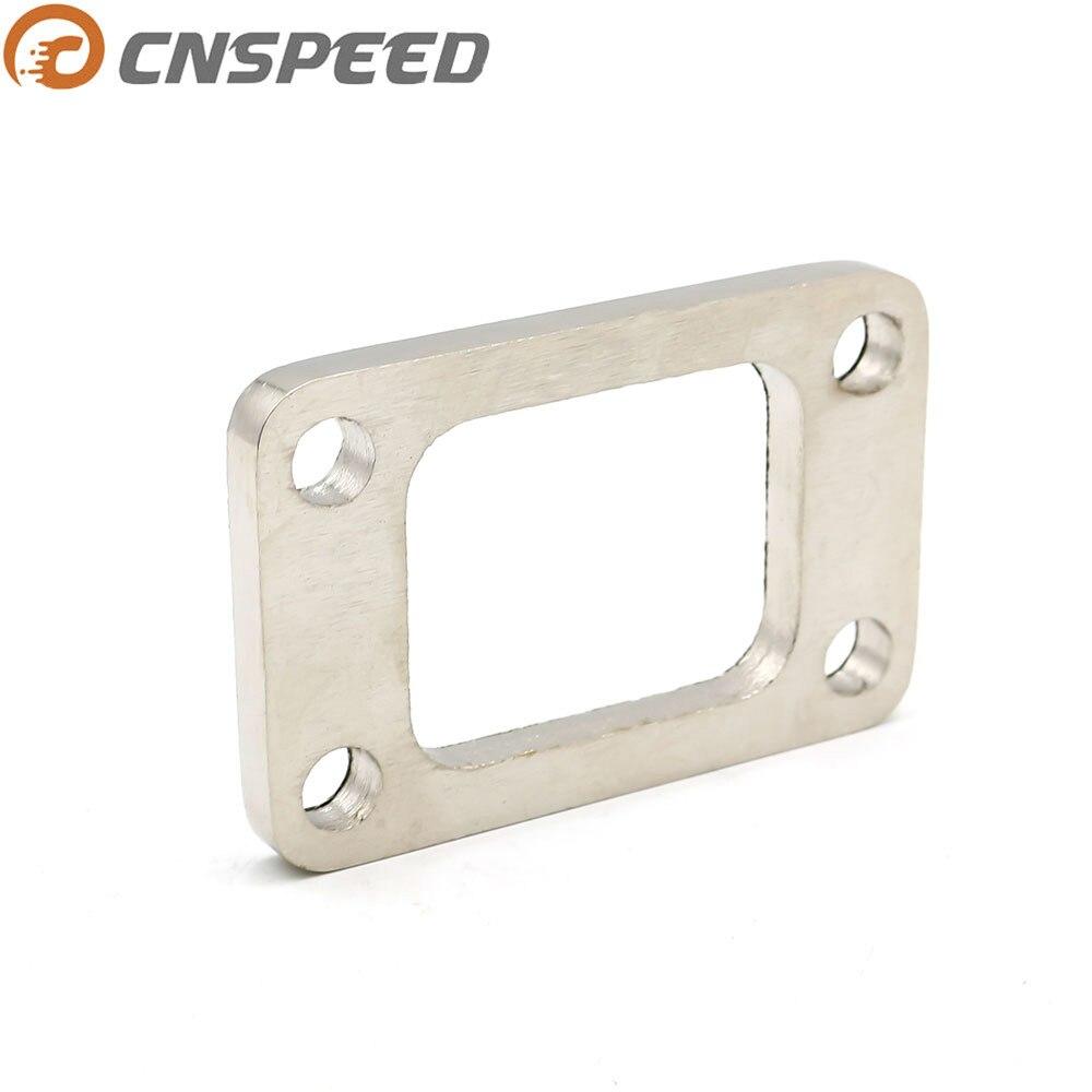 Cnspeed t3 미드 스틸 플랜지 어댑터 터보 차저/매니 폴드/하향 파이프 4 볼트