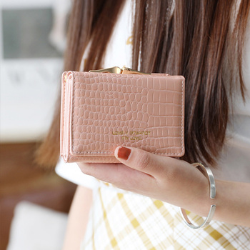 Women Crocodile Crown Short Purse Wallet Card Holder Handbag Bag Women Wallets With Coin Pocket Hign Quality coin purse