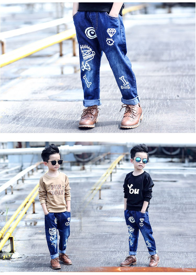 high quality fashion 2017 children jeans for boys kids scrawl pattern denim pants clothing children baby little big boy jeans clothes 6 7 8 9 10 11 12 13 14 15 16 years old (22)
