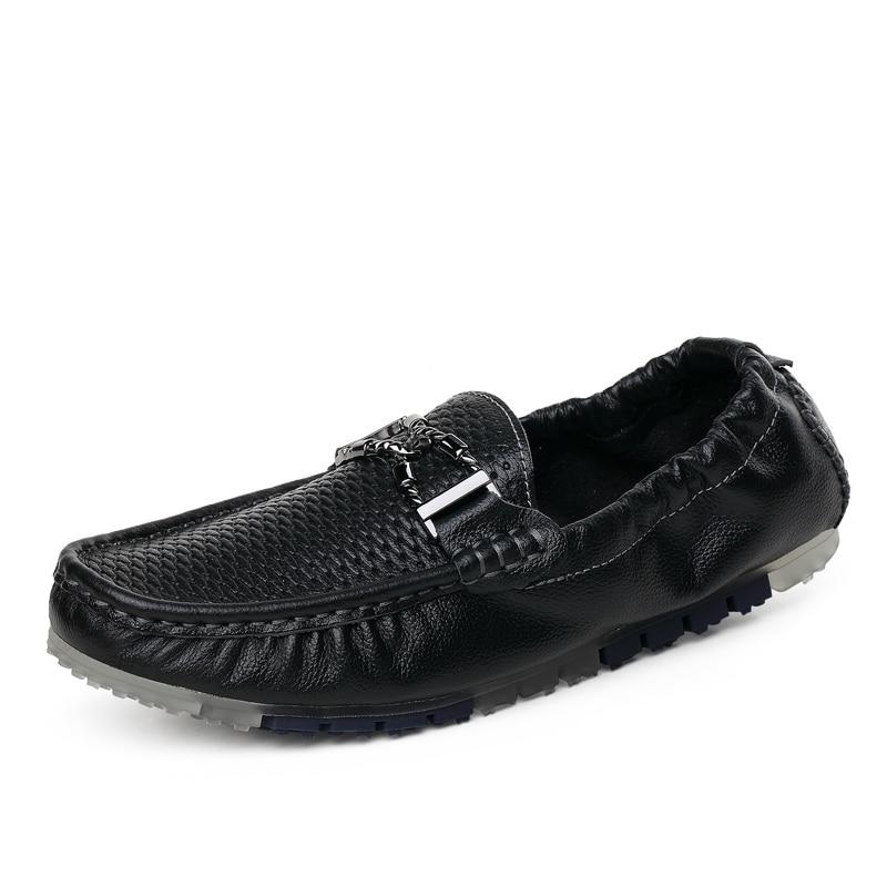 Mocassins Homme Tbl007 Appartements White Taille Évider Brown Y Black y Véritable En Chaussures Conduite Hommes Sur Glissement y Doux D'été La Plus Casual Cuir O16u Pliable 7qOtwR
