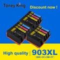 4 цвета струйных картриджей для HP903 для HP907 для HP 903 907 Officejet Pro 6965 6966 6968 6970 6971 все в одном принтере