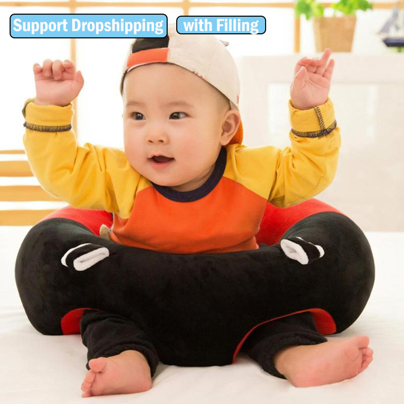 For Dropshipping Baby Sofa Infant Seat Sofa With Cotton Feeding Chair For Baby Learning To Sit Cute Baby Support Seat Cover