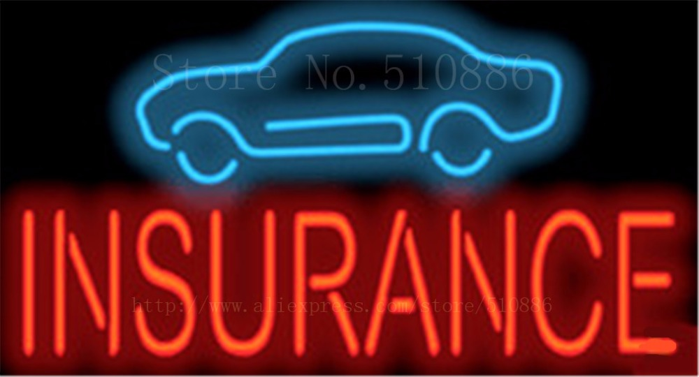 Inspection Businese Car Auto Glass Tube Neon Sign Pub