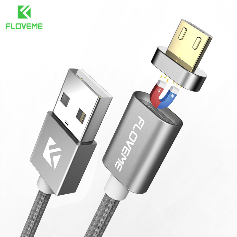 FLOVEME Micro USB Cable For Xiaomi Redmi 4X Huawei Magnetic USB Charger Data Cable For Samsung Android Nylon Mobile Phone Cables