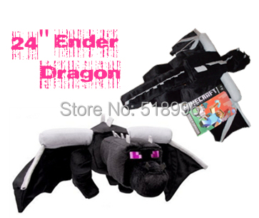 "Free Shipping 1pcs Minecraft Super Deluxe Ender Dragon 24"" Plush Toy Kids X-mas Gift toy Top Quality"